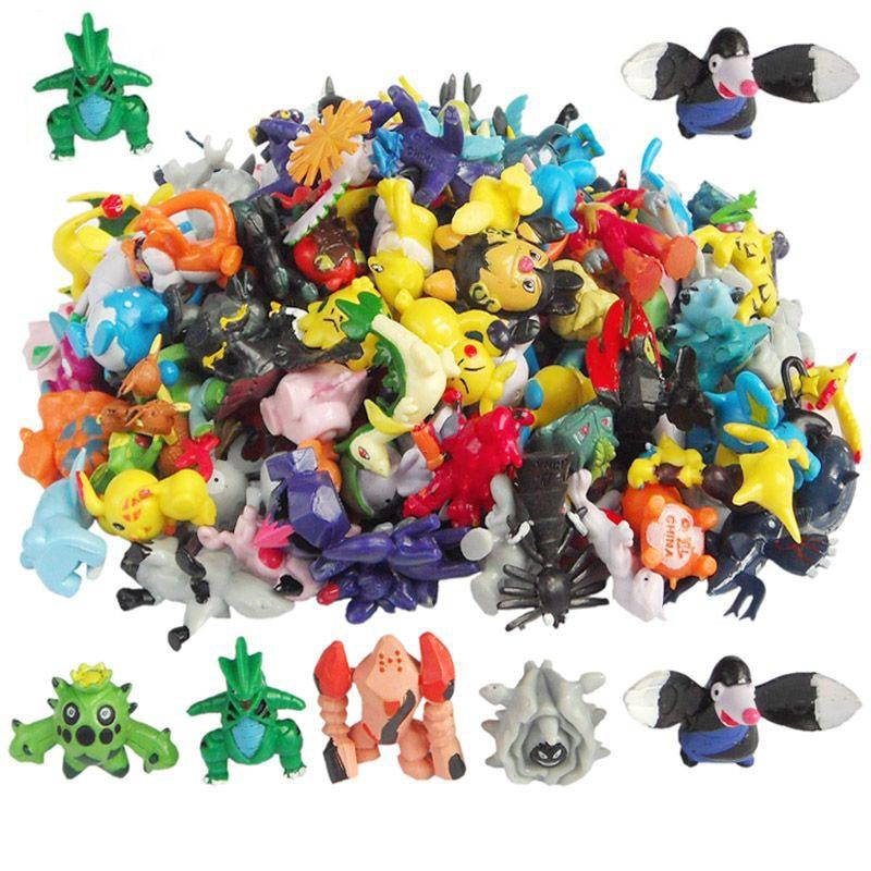 24pcs/lot Pikachu Pokeball figures Toys Cartoon Anime Pocket Action Figure PVC Toys Collection figures