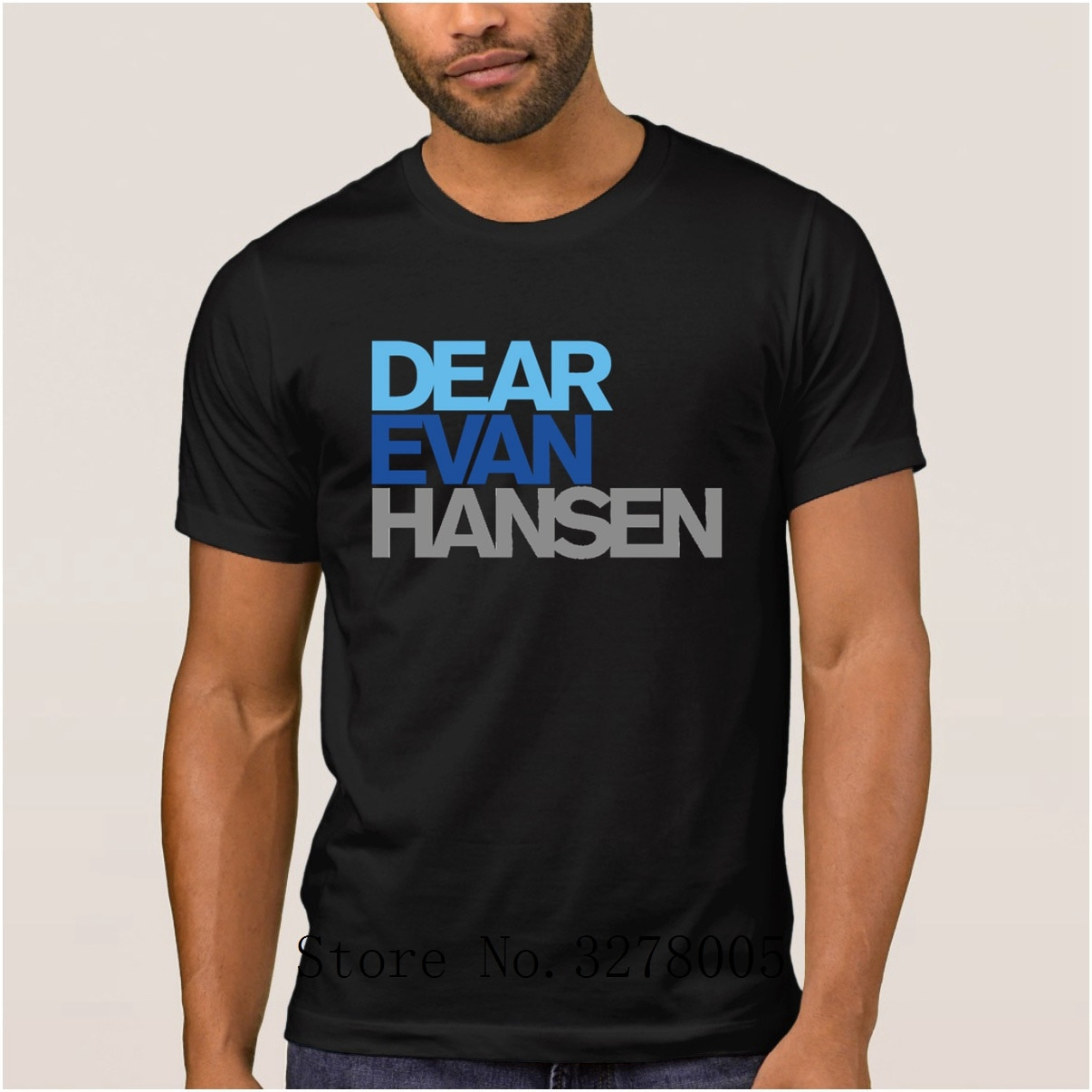 La Maxpa Strick-mode Herren T-shirt Liebe Evan Hansen regelmäßige T-Shirt Für Männer Frühling Herbst 100% Baumwolle Bekleidung T-shirt herren