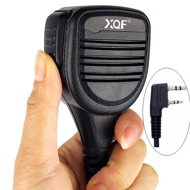 New Heavy Duty Ombro 2pin PTT Speaker Mic Microfone para Kenwood Rádio Remoto frete grátis