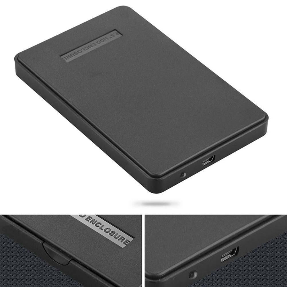Slim portátil USB 2,0 Disco Duro carcasa externa 2,5 pulgadas SATA HDD carcasa de disco duro portátil carcasas con Cable USB triangulación de envío