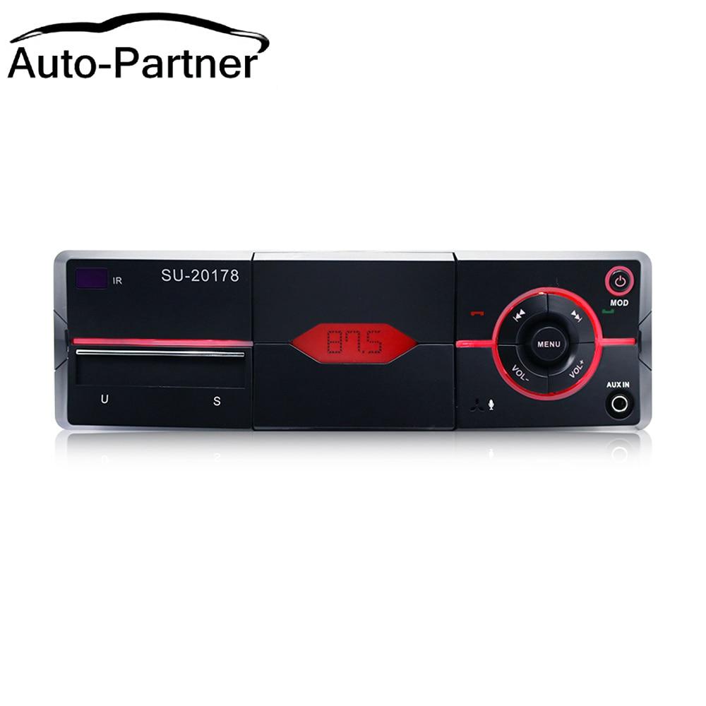 Som automotivo 1din com bluetooth, rádio fm, hands-free, suporte para carro, usb, mp3, wma, sd, aux carregador, áudio