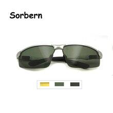 Esporte Óculos De Sol Dos Homens de alumínio E Magnésio Polarizada UV400 Alta Qualidade Semi-Sem Aro Dos homens Óculos de Condução Oculos de sol Masculino