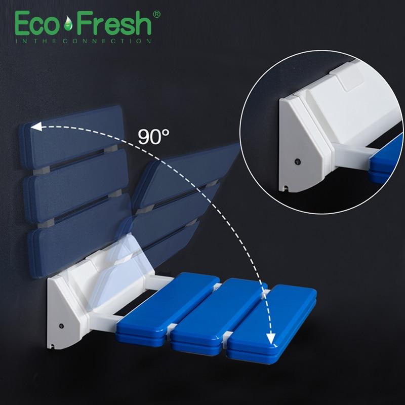 Ecofresh الحائط دش مقعد الحمام دش للطي مقعد للطي الشاطئ حمام دش البراز المرحاض دش كرسي