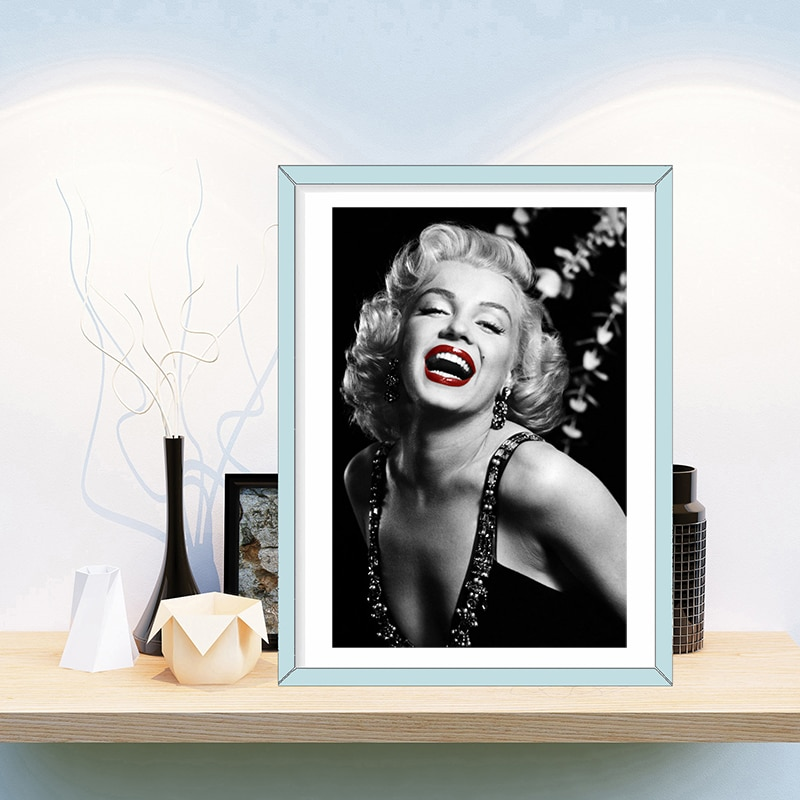 Marilyn Monroe Lona de arte Posters de pared impresión de imagen de Pintura Abstracta moderna decoración de casa moderna de pared gráficos nórdicos