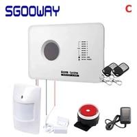 Sgooway-systeme dalarme de securite sans fil  gsm  capteur de mouvement intelligent  avec application Android ios