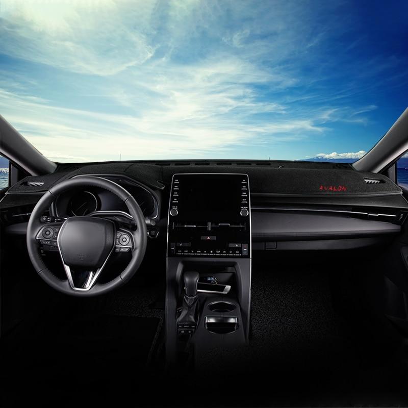 Para toyota avalon 2019 2020 lhd capa do painel do carro tapetes evitar almofadas de luz sun sombra anti-uv caso interior acessórios