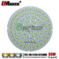 UMAKED 36W 113mm LED PCB SMD5730 ChipLED Source Aluminum Lamp plate Warm/Natural/White DIY Ceiling Lamp Bulb Bay light Spotlight