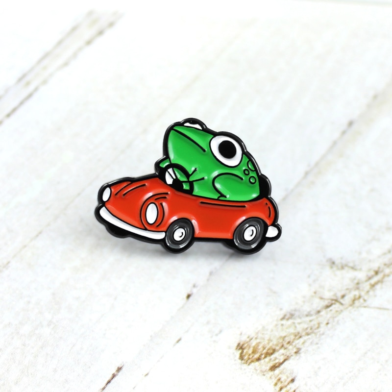 XEDZ hot bone fish flower broom bloodsucking envelope ps tool battery pea frog ticket bottle book WHY egg metal enamel pins  - buy with discount