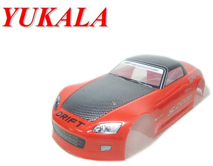 YUKALA 1:10 R/C car parts body shell for 1/10 RC car 190mm No:035 red 2pcs/lot