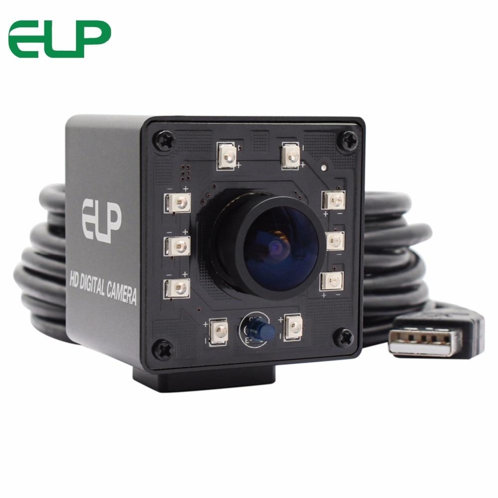 Mini caja de 1080P IR USB cámara CMOS OV2710 MJPEG YUYV IR LEDS Filtro de corte IR día y noche gran angular cámara usb