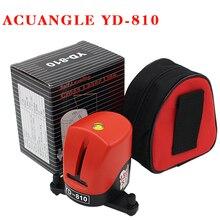 YD-810 360 degree self-leveling Cross Red Laser Level Wave length 635nm 1V1H Red 2 line 1 point Mini portable Instrument bracket