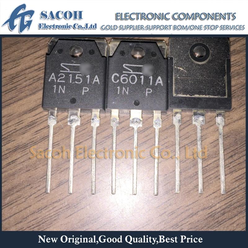 Free shipping 5Pairs 2SA2151A + 2SC6011A or 2SA2151 + 2SC6011 or 2SA2151B+2SC6011B TO-3P 15A 230V Audio Amplification Transistor