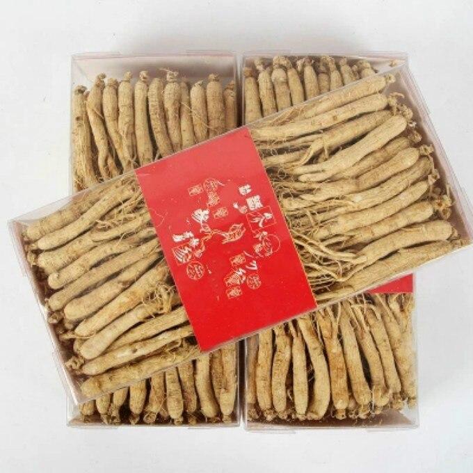Tabletas de raíz de Ginseng fresco/Seco Changbai 250-500g de paquete al vacío Panax ginseng raíz Herbal cuidado de la piel Uso de belleza 75-100 Uds