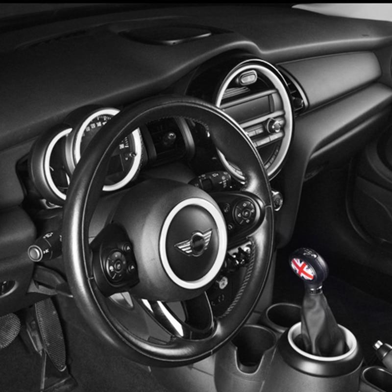 Automotive interior accessories steering wheel decoration cover sticker For BMW MINI COOPER F55 F56 F57 car styling accessories