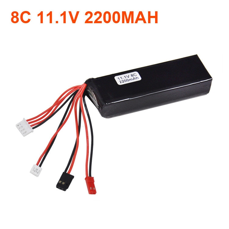 11.1V 2200mAh 8C RC Transmitter Lipo Battery For 7 10 12E DEVO F12E JR FUTABA Transmitter Wholesale