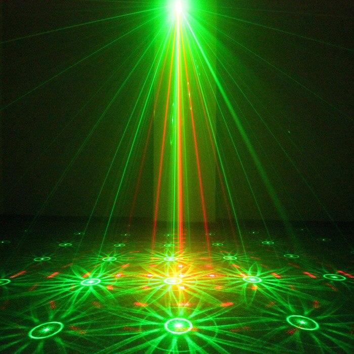 Chims etapa luces láser 16 patrón RG láser iluminación LED para música discoteca fiesta bar club de baile DJ cumpleaños Navidad fiesta de navidad