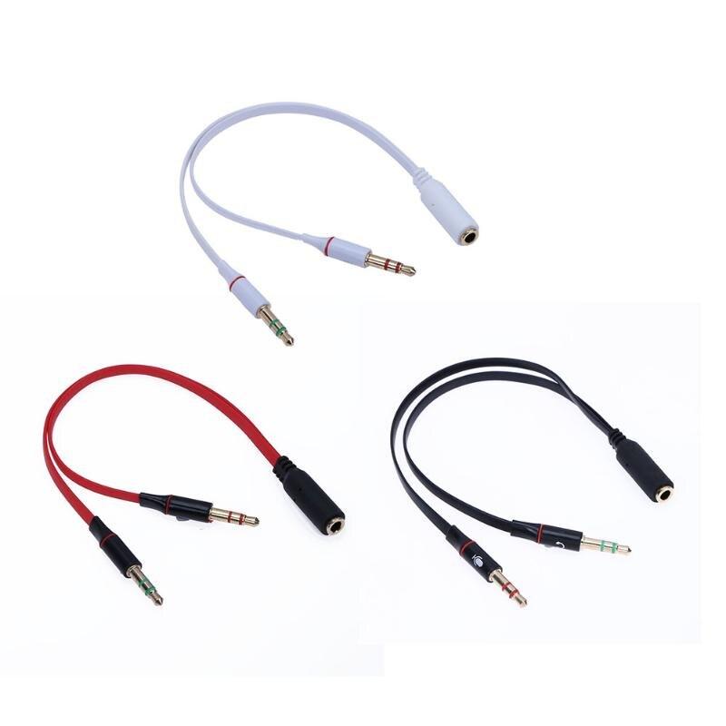 ALLOYSEED Audio Kabel Jack 3,5mm Mic Kopfhörer Splitter Vergoldete 3,5mm Jack Aux Kabel für Computer mikrofon