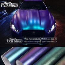 Neue ankunft Chameleon perle glitter vinyl aufkleber dunkelblau zu lila Chameleon auto wrap film Perle glitter diamant vinyl film
