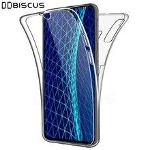 Podwójne przednie protector silikonowe etui do Samsung Galaxy M10 A10 A30 A40 A50 A20 A70 A20E M20 A30s A01 A41 A51 A71 M40 pokrywa całe ciało