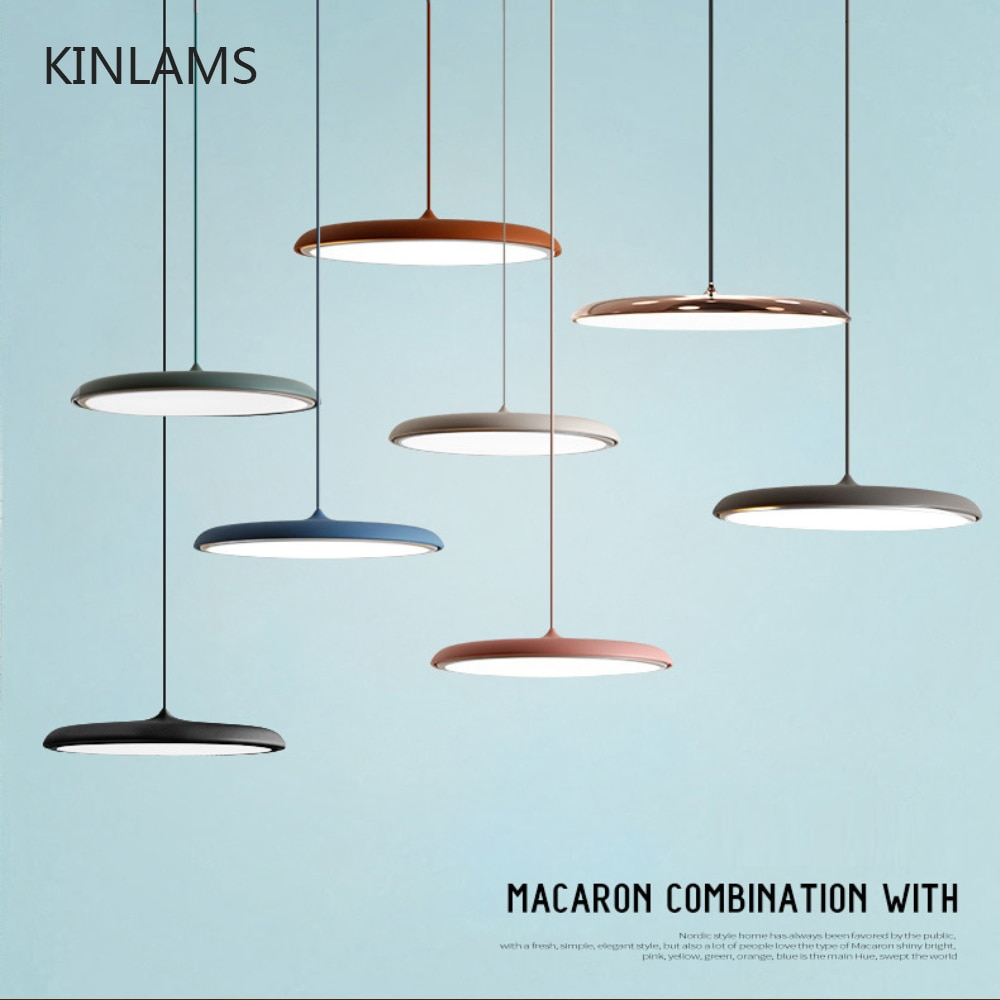 مصباح معلق LED دائري على شكل UFO ، تصميم فني حديث ، مصباح معلق لغرفة الطعام وغرفة المعيشة وغرفة النوم وطاولة الدراسة