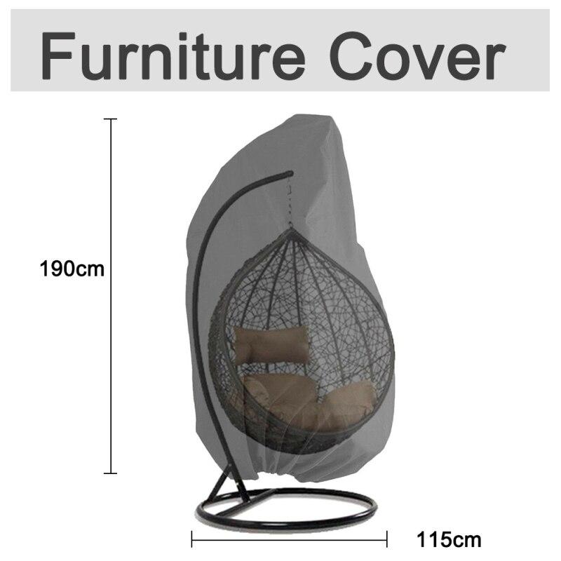Cubiertas colgantes de Patio exterior para sillas de mimbre cubiertas de sillas de columpio de huevo resistente al agua resistente al viento cocina impermeable