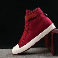 Кеды мужские высокие, повседневная Тканевая обувь, кроссовки, черные, белые, KA797, модель мужские туфли из парусины