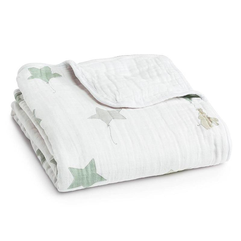 adamant ant Newborn Baby Play Mat 8 Layers Baby Swaddle Blanket Aden Anais Winter Cotton Baby Bedding Newborn Receiving Blanket