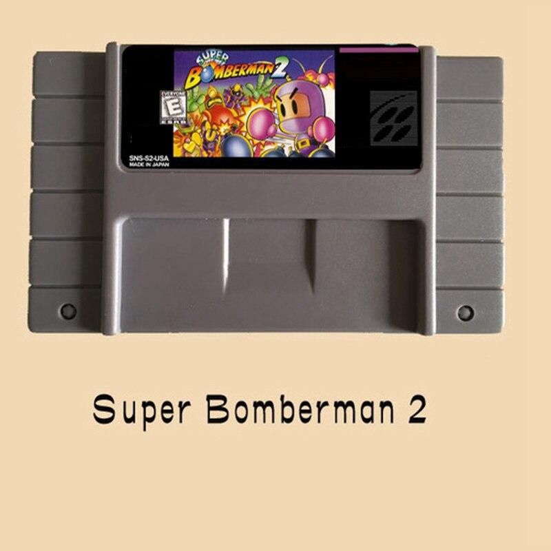 Super Bomberman 2  USA Version 16 bit Big Gray Game Card For NTSC Game Player