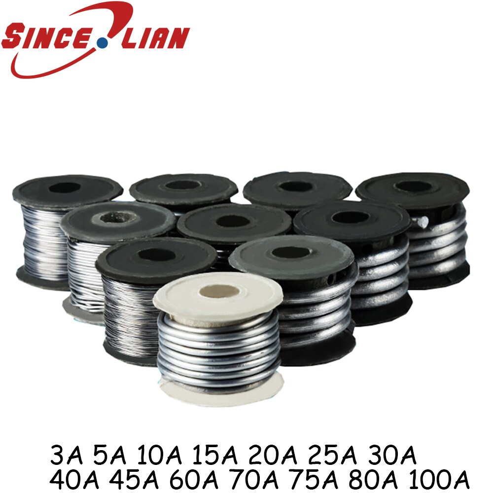 Insurance Lead Wire Large Volume National Standard Factory Fuse Wire 3A5A10A15A20A25A30A40A45A60 70 80 100A Fuse Wire Cable