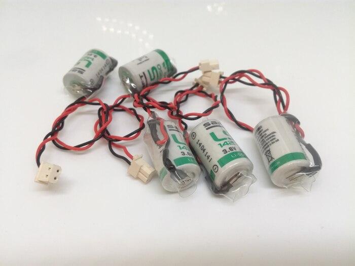 18 unids/lote nuevo Original SAFT LS 14250 LS14250 1/2 AA 1/2AA 3,6 V 1250mAh PLC baterías de litio con enchufe