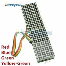 5V MAX7219 LED Module matriciel microcontrôleur 4 en 1 affichage avec 5P ligne rouge bleu jaune vert 8x8 matrice pour Arduino