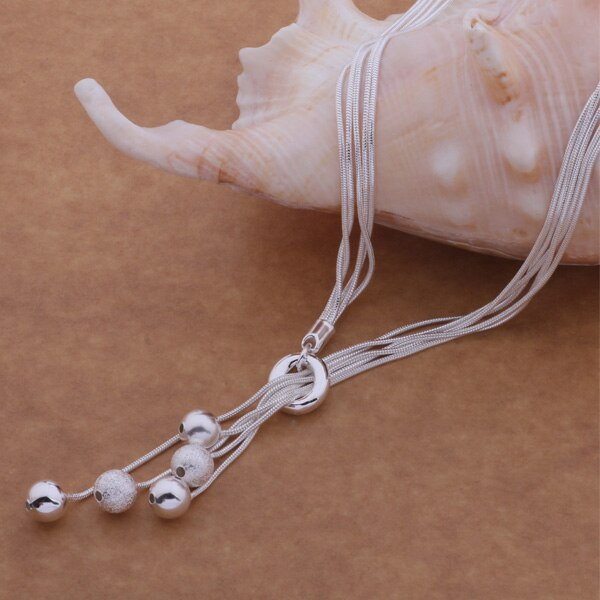 AN494 a la moda venta al por mayor r collar, r joyería de moda Tai chi cuentas dicroicas/bttaklaa grpapiwar plateado