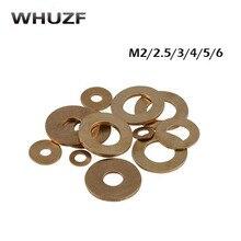 Copper Washer m3 50PCS M2 M2.5 M3 M4 M5 seal plain washers Brass flat flat gasket copper gasket copper meson brass seal gasket