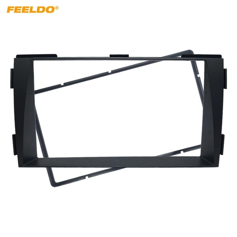 FEELDO Car 2Din Radio Fascia Frame for Hyundai Sonata NFC 2009-2010 Stereo Face Panel Dash Installation Trim Kit #AM5144