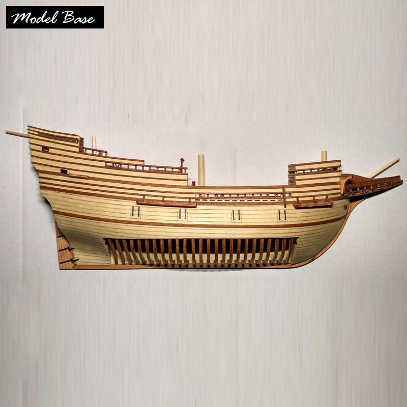 Wooden Ship Models Kits Educational Children Games Diy Kit Model 3d Wood Boats Laser Cut 1 /96 Half Hull Model Ship kit Kids Toy