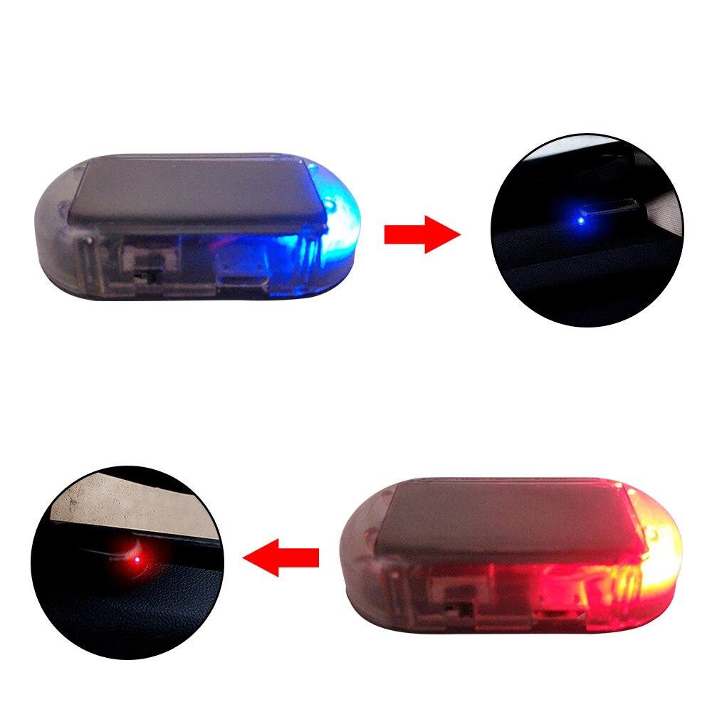 Universal Car Alarm LED Light Security System Warning Theft Flash Blinking Fake Solar Car Led Light