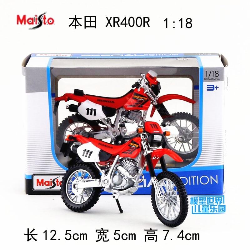 118 Модель мотоцикла из сплава, высокая имитация металла HONDA XR400R игрушки для пересеченной местности, бесплатная доставка