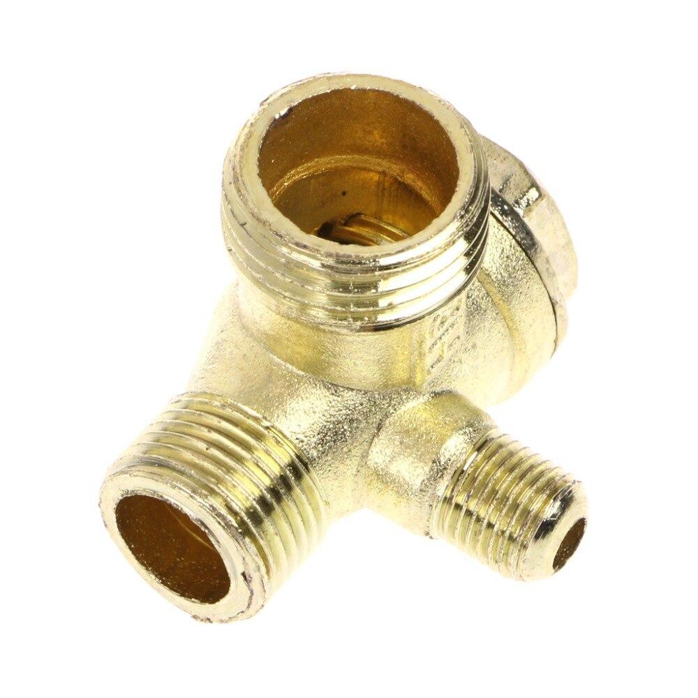Para rosca macho 3 de válvula de retención del compresor de aire de oro tono promoción