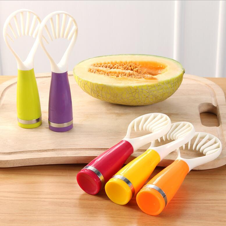Melon Cantaloupe Mango Muskmelon Papaya Slicer Fruit Flesh Digging Spoon Scoop Cutting Strip Seeds Remover Tool