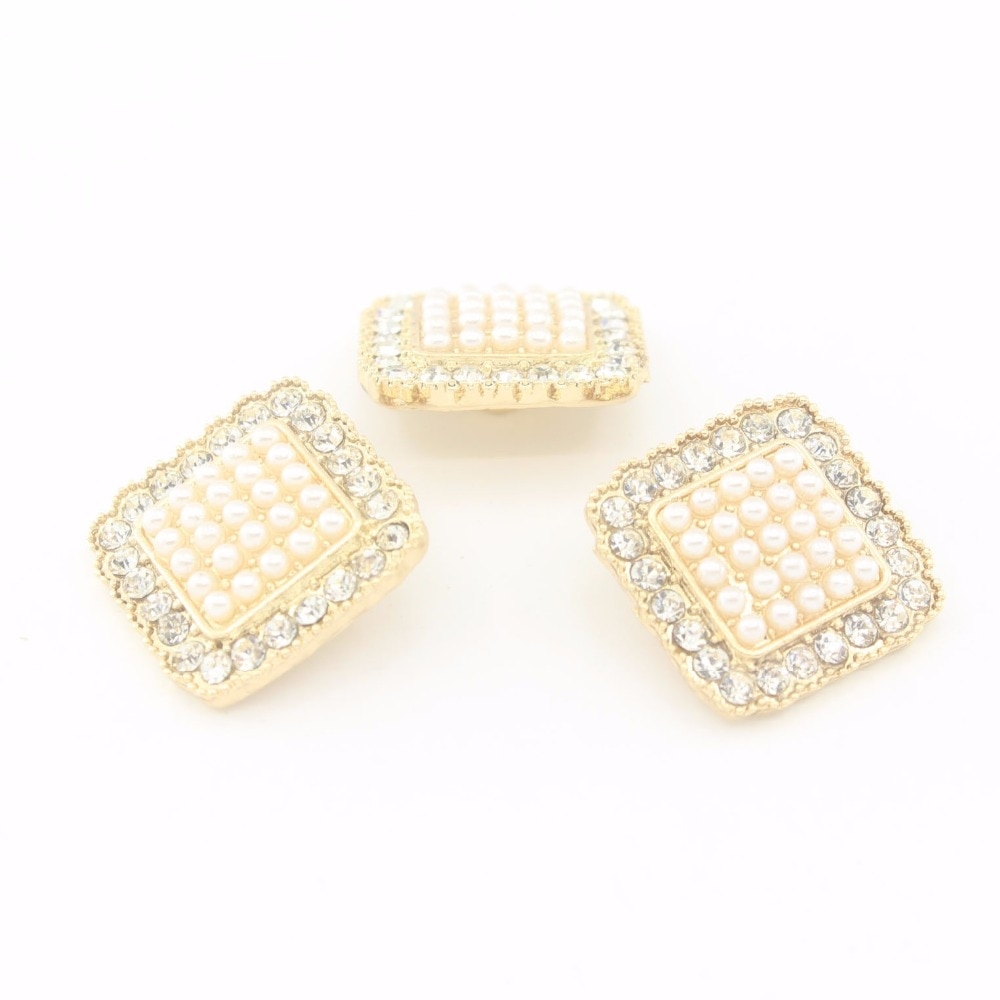 """20mm 4/5"""" 2018 New Top Fashion Sewing Shank Buttons Rhinestones Plating Metal Diy Gem Buckles For Garment Free Shipping 10pcs"""