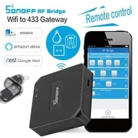 SONOFF RF Bridge Wifi 433Mhz commutateur de telecommande sans fil Module domotique Intelligent Intelligent Alexa et Google Assistant