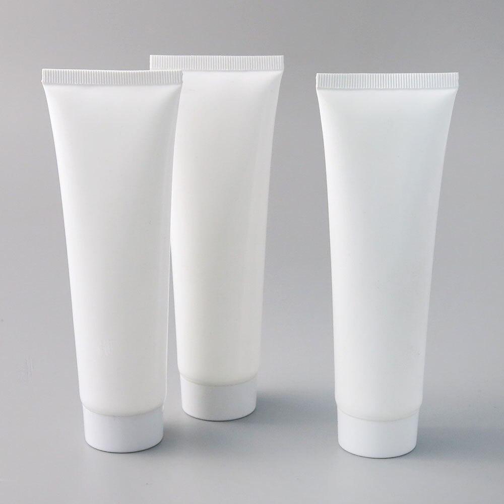 Tubo macio cosmético plástico branco de alta qualidade 50x100 ml 100g handcream eyecream pp tubo que empacota recipientes de viagem vazios
