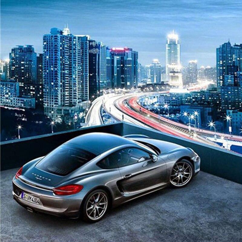 5D алмазная картина с изображением автомобиля, полностью круглая квадратная дрель, приклеенная крестиком, домашняя декоративная мозаика, ка...