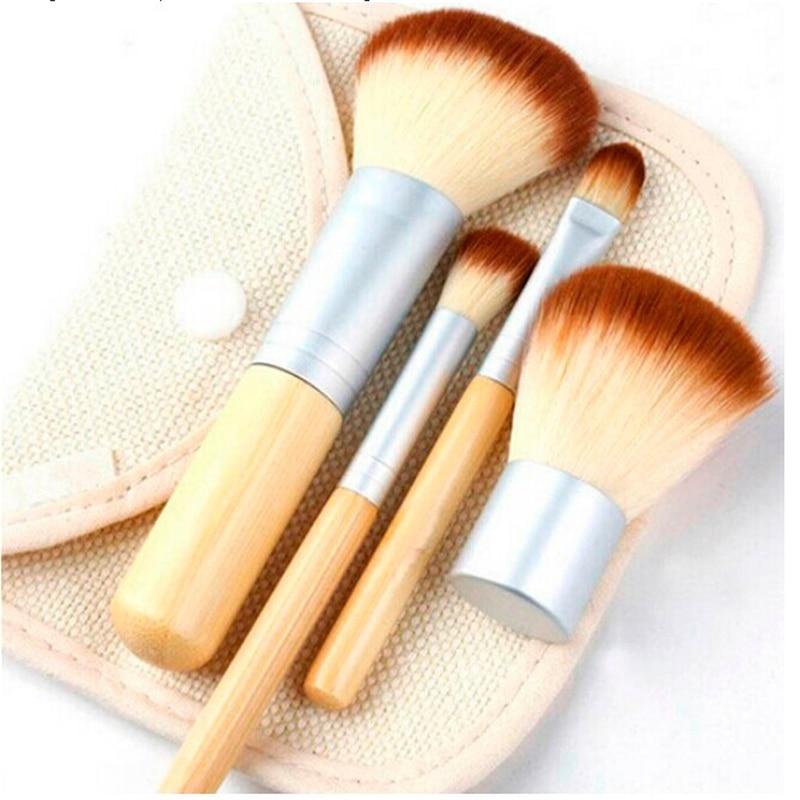 GUJHUI nueva llegada 4 Uds profesional de cosméticos de maquillaje de la Fundación de polvo de cejas cepillo Blush