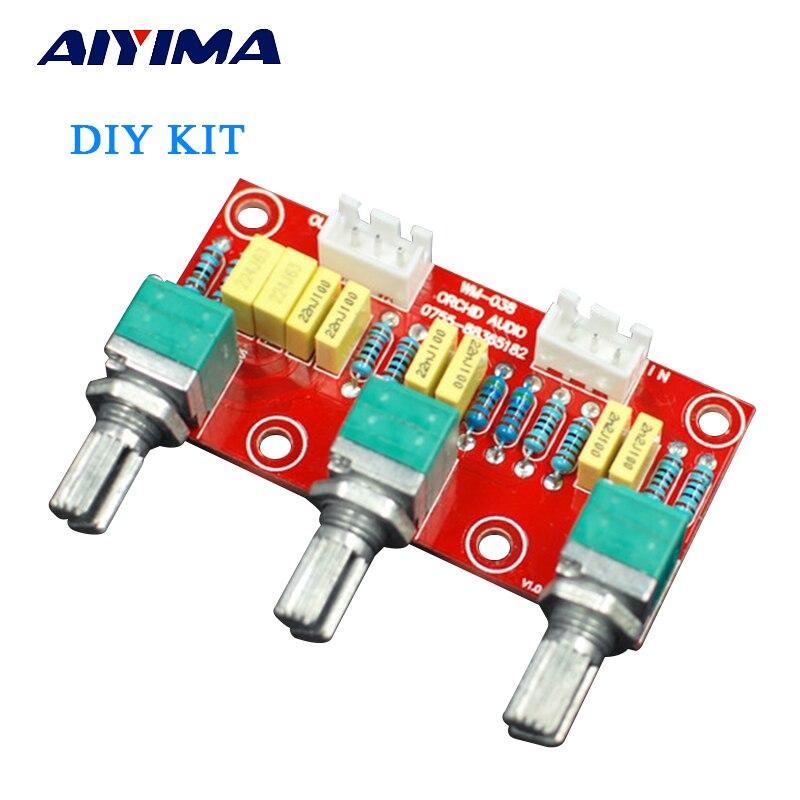 AIYIMA Hi-Fi усилитель, пассивная тоновая плата, бас, высокие частоты, регулятор громкости, предусилитель, плата для усилителя, сделай сам