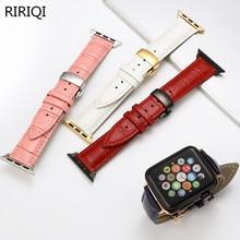 Apple Watch Series 3/2/1 38MM 42MM bracelet en cuir respirant iwatch series 4 40MM 44MM