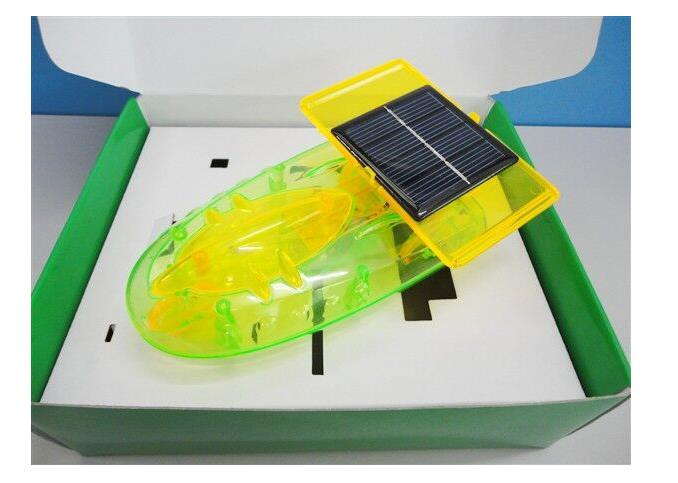 solar toy space ship model Powered Toy DIY Car Kit Children Educational toy solar power