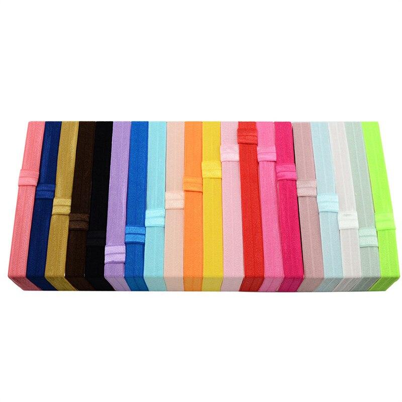 20 colores diadema para niñas accesorios para el cabello para recién nacidos bandas elásticas para el cabello DIY accesorios para el cabello