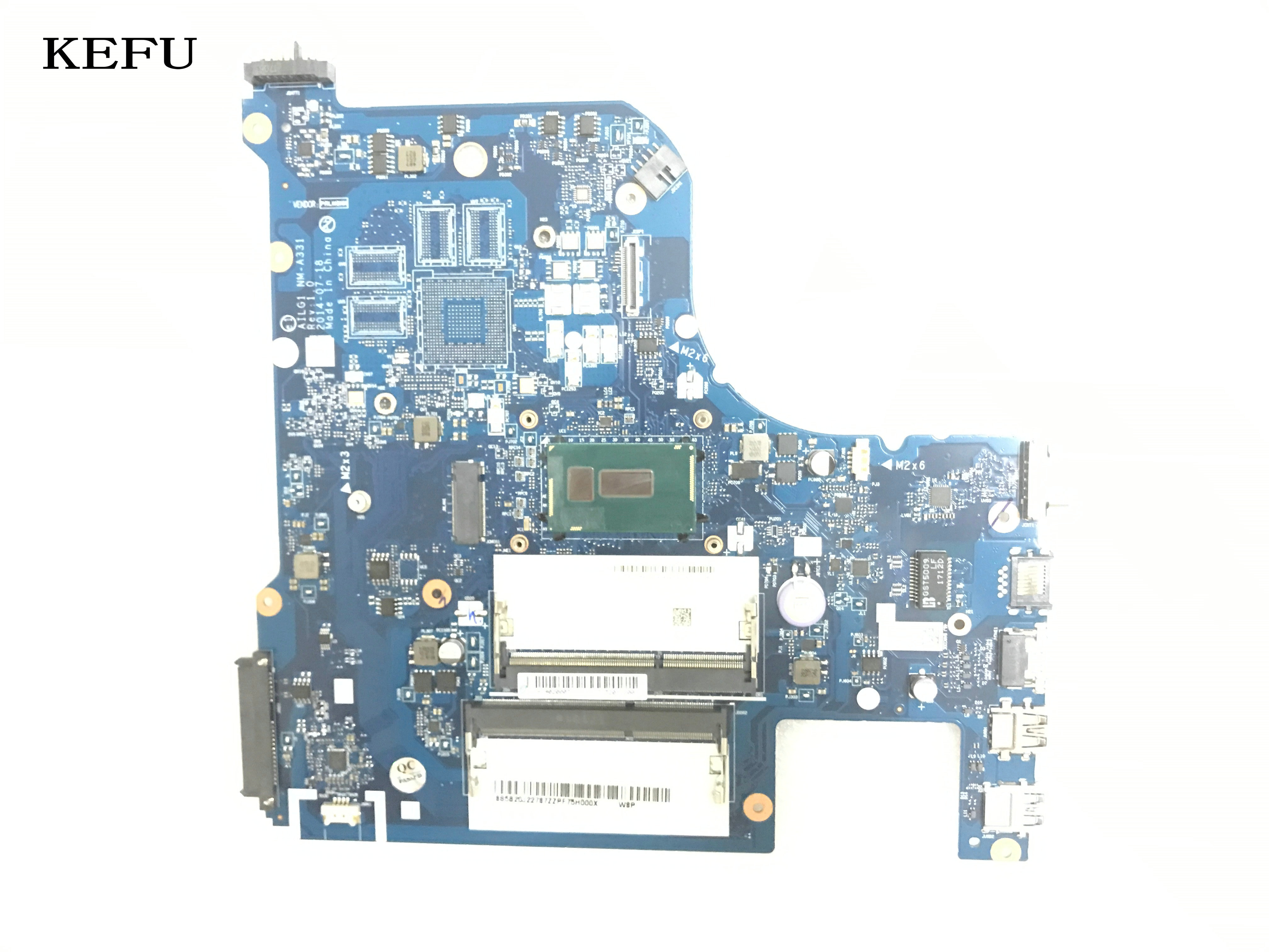 KEFU nueva placa principal AILG1 NM-A331 para LENOVO G70-80 ordenador portátil placa madre procesador integrado i3