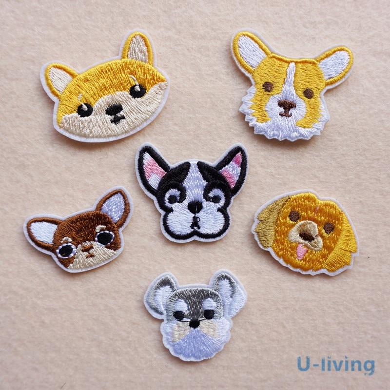 Patchs mixtes de chiens pour vêtements, 1 pièce, pour repasser sur les vêtements brodés, appliquer un Badge en tissu, accessoires pour vêtements, bricolage